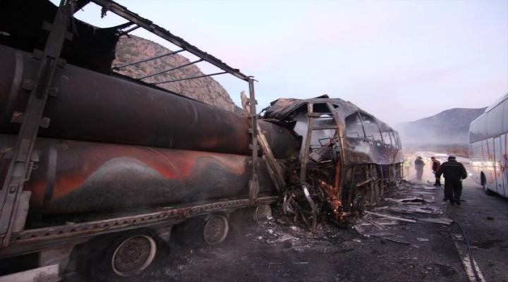 Çorum'da otobüs kazası: 13 ölü