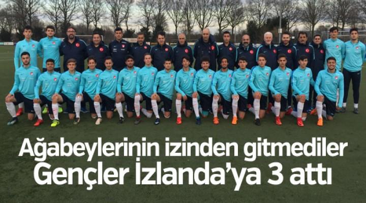 Genç milli futbol takımı İzlanda'yı mağlup etti