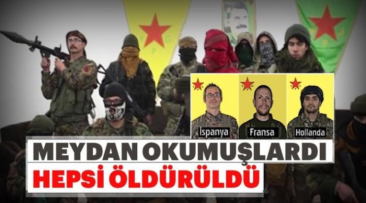 Son dakika… 3 Avrupalı terörist öldürüldü!
