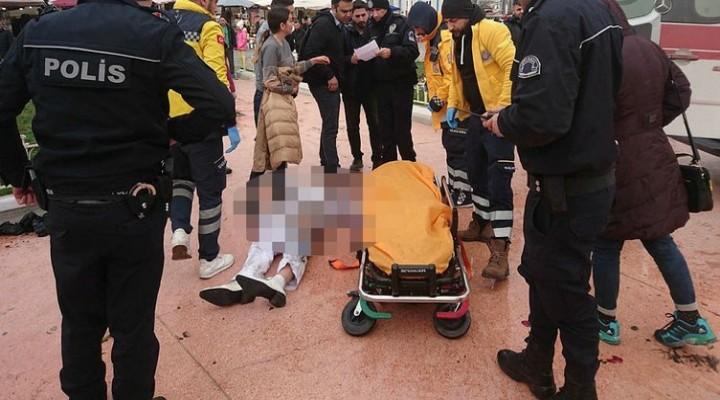 Son dakika: Taksim Meydanı'nda bir kişi kendini yaktı