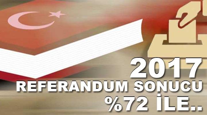 2017 Referandum Sonucu %72 İle..