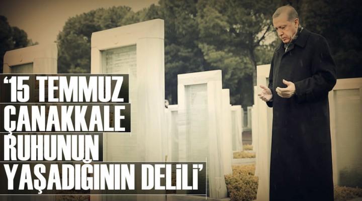 18 Mart Çanakkale ve 15 Temmuz 2016 Zaferi Halk'ın ve Türk Milletinindir!