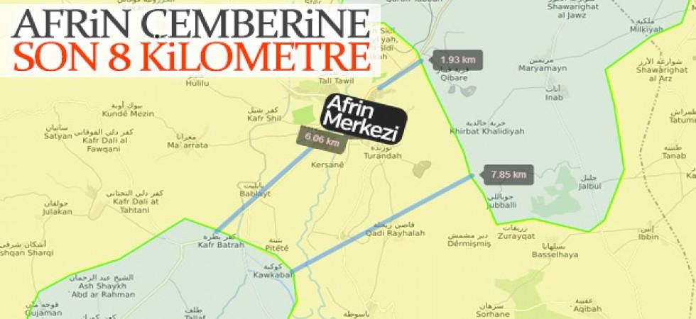 Afrin'in merkezi çembere alınıyor