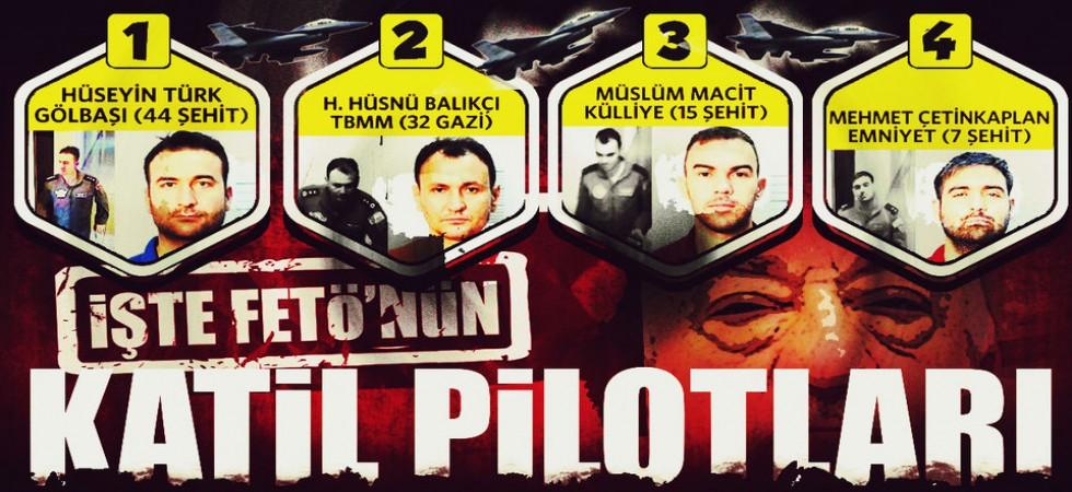 Türkiye'yi F-16'larla Kana Bulayan Hainler İşte Bunlar!