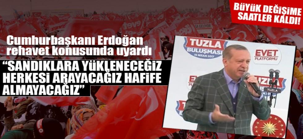 Cumhurbaşkanı Recep Tayyip Erdoğan'ın Tuzla Mitinginden Satır Başları.