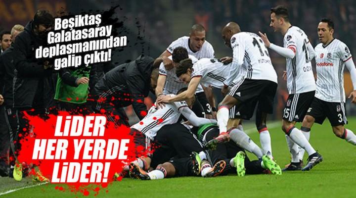 Lider Beşiktar Galatasaray Derbisini 1-0'lık skorla geride bıraktı.