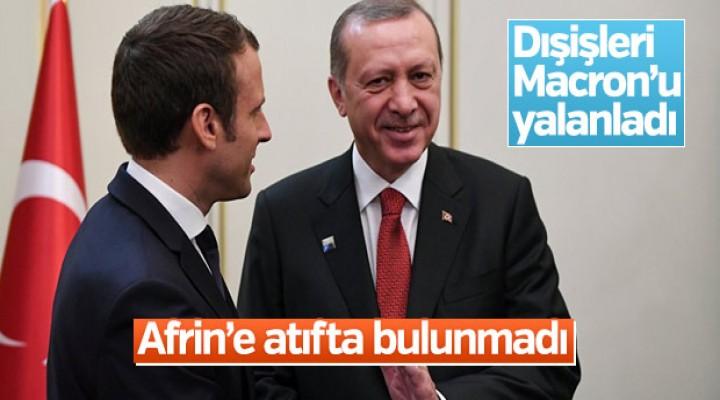 Dışişleri: Erdoğan ile görüşmesinde Afrin'e atıfta bulunmadı