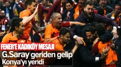 Galatasaray derbi öncesi Konyaspor'u yendi