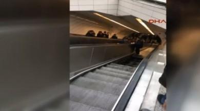 SON DAKİKA! Maslak metrosunda yürüyen merdiven çöktü!