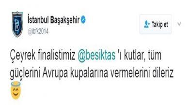 Başakşehirden Beşiktaşa Esprili Tebrik