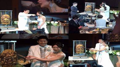 Japon Düğününde Pasta Yerine Tavuk Döner Kestiler