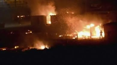 Fransada Sığınmacı Kampında Yangın: 10 Yaralı