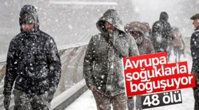 Avrupa'da soğuktan ölenlerin sayısı 48'e yükseldi