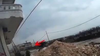 Cinderes'te YPG'li keskin nişancının vurulma anı