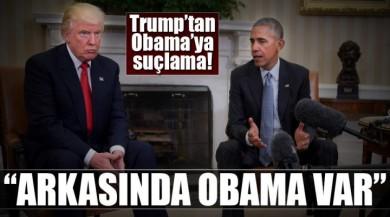 ABD Başkanı Donald Trump Protestolar ve Artan Baskılar İçin Obama'yı suçladı.