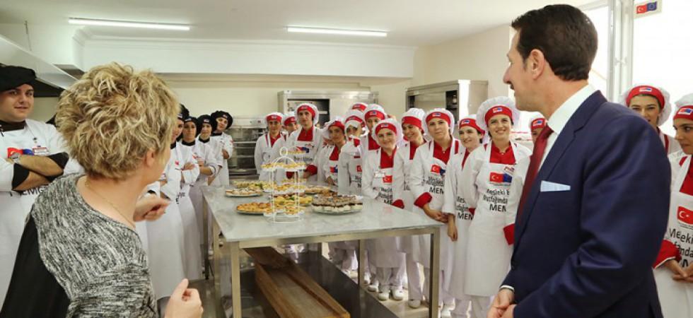 Başkan Tok: 'İşletmelerin gözü İlkadım Aşçılık Okulu'nda'