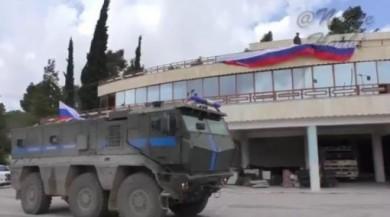 Rus bayraklı YPG karargâhının son hali