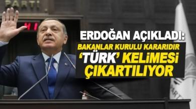 Cumhurbaşkanı Erdoğan açıkladı: Türk Tabipleri Birliği'ndeki 'Türk' kelimesi çıkarılıyor