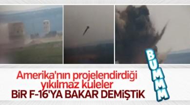 Afrin'de teröristlerin gözetleme kulesi imha edildi