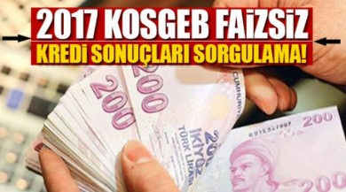 KOSGEB sıfır faiz kredi sonuçları açıklandı 50 Bin TL Faizsiz Kredi Sonuçları kosgeb.gov.tr
