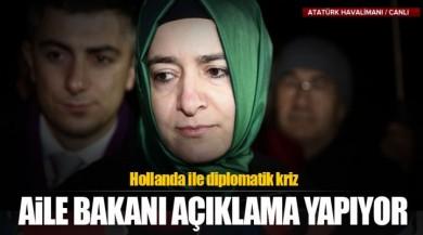 Bakan Fatma Betül Sayan Kaya Türkiye'ye Döndü ve Açıklama Yapıyor!