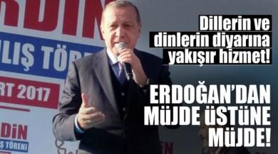Cumhurbaşkanı Recep Tayyip Erdoğan Mardin'de Halka Seslendi.
