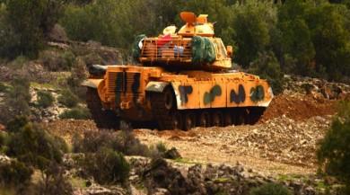 Afrin'e 'Zeytin Dalı Harekatı' sürüyor, tanklar Suriye'ye girdi