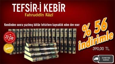 Dini Kitapların Adresi Huzur Yayınevinden Tefsir-i Kebir 23 Cilt Bez Cilt-Şamua