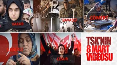 TSK'dan Kadınlar Günü'ne özel video