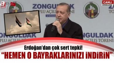 Cumhurbaşkanı Recep Tayyip Erdoğan'dan Zonguldak'ta Kerkük'teki Bayrak Krizine Sert Tepki Gösterdi.