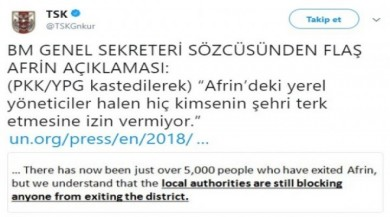 YPG'nin sivilleri kalkan yapması BM raporunda