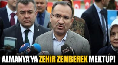 Adalet Bakanı bekir Bozdağ'dan Almanya'ya Mektup