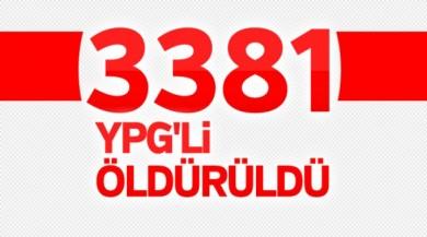 Afrin'de 3381 terörist öldürüldü
