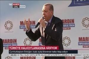 Recep Tayyip Erdoğan 30 Mart 2017 Mardin Toplu Açılış Töreni